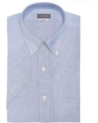Van Heusen - Classic-fit Flex Collar Wrinkle Free Short-sleeve Oxford Dress Shirt - Lyst