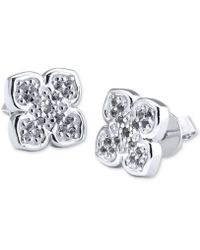 Charriol - Le Fleur Sterling Silver Earring With White Topaz - Lyst