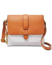 Fossil - Kinley Small Printed Crossbody - Lyst