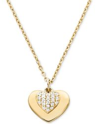 Michael Kors - Mkc1120an710 Love Heart Duo Pendant Gold - Lyst