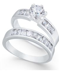 Charter Club - Silver-tone 2-pc. Cubic Zirconia Ring Set - Lyst