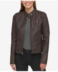 Levi's - Faux-leather Biker Jacket - Lyst