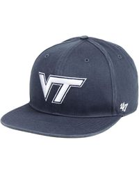 47 Brand - Virginia Tech Hokies Navy Go Shot Captain Snapback Cap - Lyst