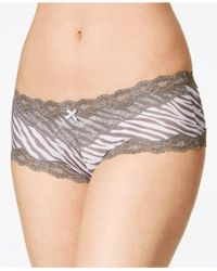 0ff68a2de6fd Sam Edelman Scalloped Lace Hipster Panties in Purple - Lyst