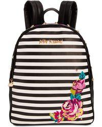 Betsey Johnson - Medium Embroidery Backpack - Lyst