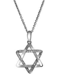 Effy Collection - Diamond Star Of David Necklace (1/8 Ct. T.w.) In 14k White Gold - Lyst