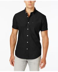 Tommy Hilfiger - Maxwell Short-sleeve Button-down Classic Fit Shirt, Created For Macy's - Lyst