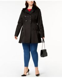 Via Spiga - Plus Size Double-breasted Skirted Trench Coat - Lyst