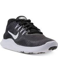 e288d66119dbb Lyst - Nike Women s Flex 2017 Run Running Sneakers From Finish Line ...