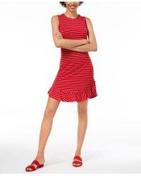 Maison Jules - Ruffled-hem Striped A-line Dress, Created For Macy's - Lyst