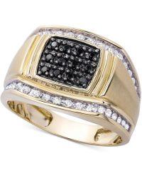 Macy's - Men's Diamond Ring (1/2 Ct. T.w.) In 10k Gold - Lyst