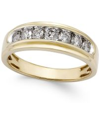 Macy's - Men's Diamond Band (3/4 Ct. T.w.) In 10k Gold - Lyst