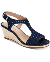Charter Club - Shelbee T-strap Wedge Sandals, Created For Macy's - Lyst
