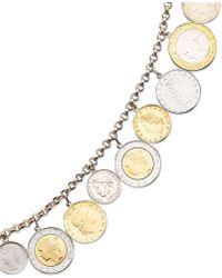 Macy's - Vermeil Bracelet, Lira Coins Charm Bracelet - Lyst
