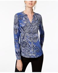 INC International Concepts - I.n.c. Petite Printed Top, Created For Macy's - Lyst