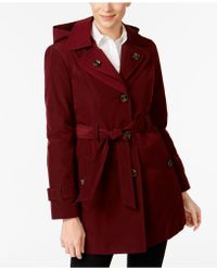 London Fog - Double-notch-collar Belted Trench Coat - Lyst