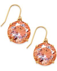 Kate Spade - Shine On Gold-tone Crystal Drop Earrings - Lyst