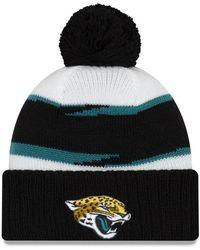 finest selection 2b7b4 93f1a KTZ - Jacksonville Jaguars Thanksgiving Pom Knit Hat - Lyst