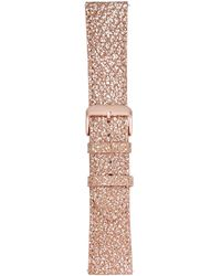 VogueStrap - Smart Buddie Platinum Rose Metallic Leather Strap For Use With 22mm Smart Watch - Lyst
