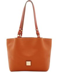 Dooney & Bourke - Pebble Leather Flynn Tote - Lyst