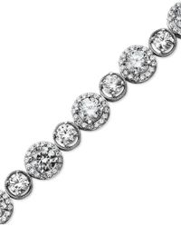 Arabella - Sterling Silver Bracelet, Swarovski Zirconia Bracelet (22-9/10 Ct. T.w.) - Lyst