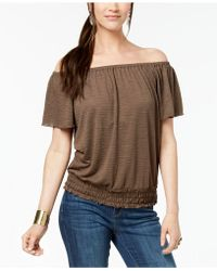 Style & Co. - Petite Smocked Off-the-shoulder Top, Created For Macy's - Lyst
