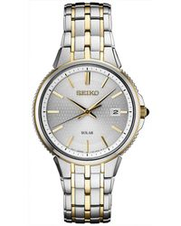 Seiko - Solar Essentials Two-tone Stainless Steel Bracelet Watch 39.4mm - Lyst