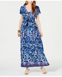 Style & Co. - Printed Maxi Dress, Created For Macy's, Created For Macy's - Lyst