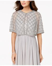 Adrianna Papell - Sheer Embellished Cape - Lyst