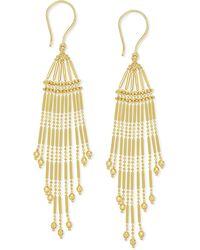 Macy's - Multi-strand Bead Chandelier Earrings In 14k Gold - Lyst