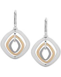 Nine West - Tri-tone Orbital Drop Earrings - Lyst