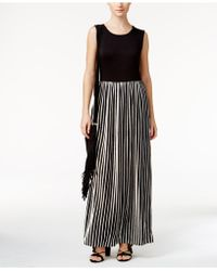 Olivia & Grace - Striped Maxi Dress - Lyst