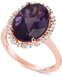 Macy's - Amethyst (5-1/2 Ct. T.w.) & Diamond (1/4 Ct. T.w.) Ring In 14k Rose Gold - Lyst