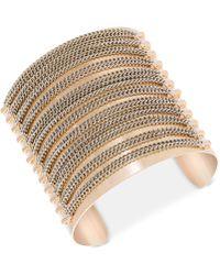 Steve Madden - Gold-tone Chain Cuff Bracelet - Lyst