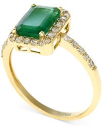 Effy Collection - Emerald (1-3/8 Ct. T.w.) And Diamond (1/4 Ct. T.w.) Ring In 14k Gold - Lyst