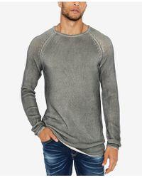 Buffalo David Bitton - Walong Regular-fit Loose-knit Raglan-sleeve Sweater - Lyst