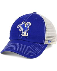 c2b7e2d6356 Lyst - 47 Brand Indianapolis Colts Clean Up Cap in White for Men
