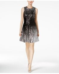 Vince Camuto | Ombré Sequined Dress | Lyst