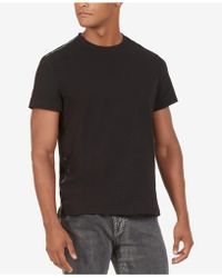 Kenneth Cole - Kenneth Cole Taped Crewneck T-shirt - Lyst