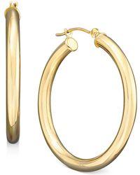 Macy's - Medium Hoop Earrings In Polished 14k Gold - Lyst