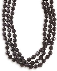 Carolee - Necklace, Jet Bead Long Rope - Lyst