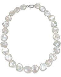 Macy's - Cultured Keshi Pearl Collar Necklace (12-15mm) In Sterling Silver - Lyst