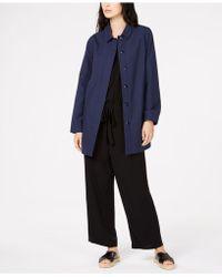 Eileen Fisher - Organic Cotton Car Coat, Regular & Petite - Lyst