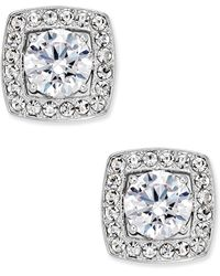 Danori - Silver-tone Multi-crystal Square Stud Earrings - Lyst