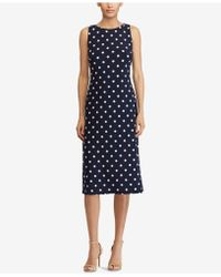 American Living - Polka-dot Sheath Dress - Lyst