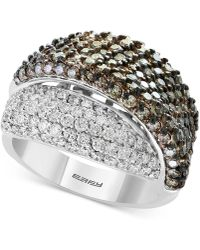 Effy Collection - Diamond Overlap Statement Ring (2-7/8 Ct. T.w.) In 18k White Gold - Lyst