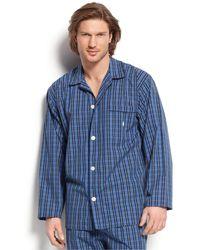 Polo Ralph Lauren - Men's Harwich Plaid Long-sleeved Pajama Top - Lyst