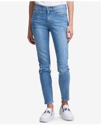 DKNY - Studded Skinny Jeans, Created For Macy's - Lyst
