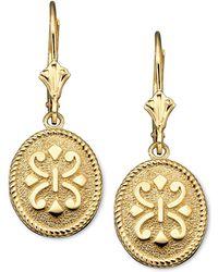 Macy's | 14k Gold Earrings, Oval | Lyst