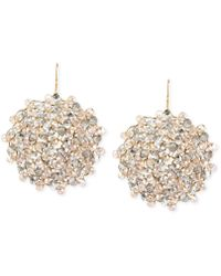 Kenneth Cole | Jet Faceted Woven Bead Round Drop Earrings | Lyst